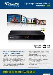 Digital High Definition Terrestrial Receiver SRT 8903 - Strong.tv