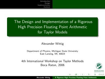 The Design and Implementation of a Rigorous High Precision ...