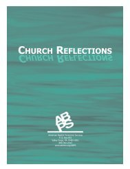 Church Reflections.qxd - American Baptist Home Mission Societies