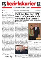 Bezirkskurier Stöckheim/Leiferde Ausgabe 2011-2 - Klaus-Peter ...