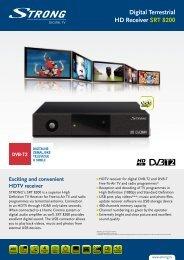 Digital Terrestrial HD Receiver SRT  8200 - Strong.tv