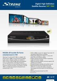 Digital High Definition Satellite Receiver SRT 7002 - Strong.tv