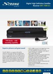 Digital High Definition Satellite Receiver SRT ... - STRONG Digital TV
