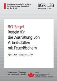 BGR 133 - Feuerschutz Holt