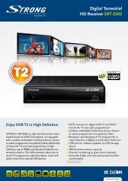 Digital Terrestrial HD Receiver SRT  8502 - STRONG Digital TV