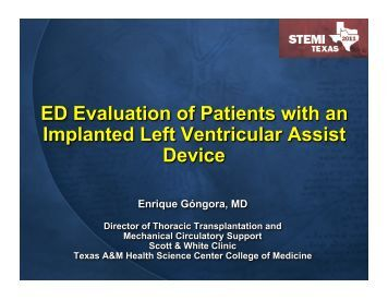 ED Evaluation of Patients with Implanted LV Assist Device