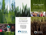 Peer Support - RHA Behavioral Health