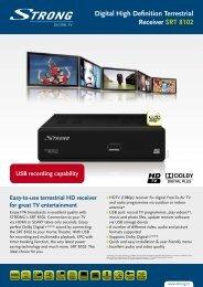 Digital High Definition Terrestrial Receiver SRT 8102 - Strong.tv