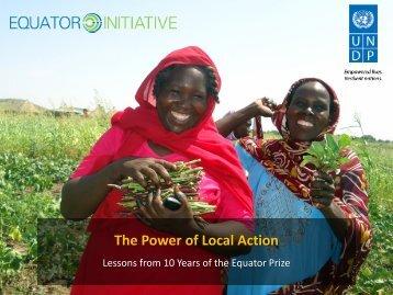 Oliver Hughes's presentation - Equator Initiative