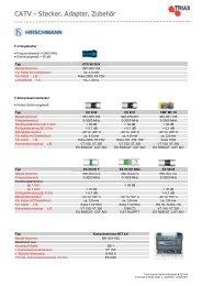 CATV – Stecker, Adapter, Zubehör - Triax