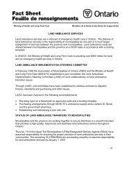Transition Fact Sheets - Land Ambulance (pdf 56KB) - the Ontario ...