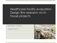Healthcare Facility Evaluation by Design Practitioners