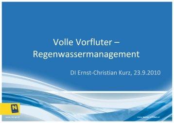 Volle Vorfluter – Regenwassermanagement