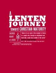 A Lenten Journey To Christian Maturity Prayer Guide