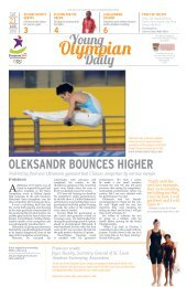 Young Olympian Daily Issue 08 - WKWSCI Home - Nanyang ...