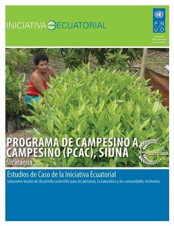 programa de campesino a campesino (pcac), siuna - Equator Initiative