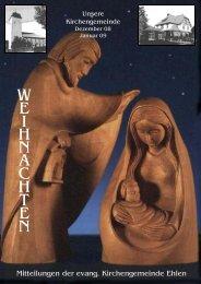Weihnachten 2008 - Evangelische Kirche Ehlen
