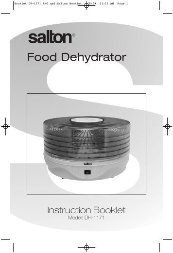 sunbeam food dehydrator instructions