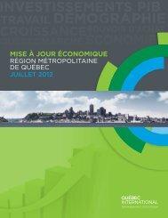 Mise à jour économique - juillet 2012 - Québec International