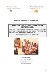 MINISTERE DE LA SANTE - Campaign to End Fistula
