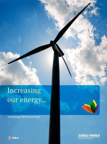 Increasing our energy... - Zorlu Enerji
