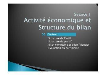 S d l' if -Structure de l'actif -Structure du passif -Bilan comptable et ...