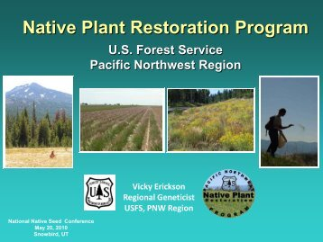 Presentation (PDF) - National Native Seed Conference