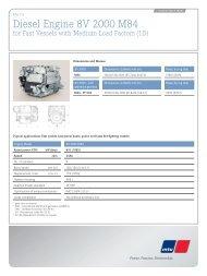 Diesel Engine 8V 2000 M84 - MTU Detroit Diesel Australia