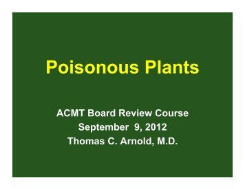 Poisonous Plants