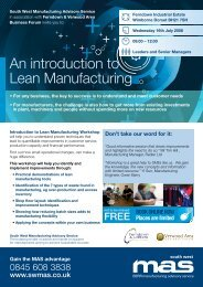 An introduction to Lean Manufacturing - SWMAS