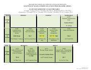 AY 2012-2013 SEMESTER 1 CLASS TIMETABLE