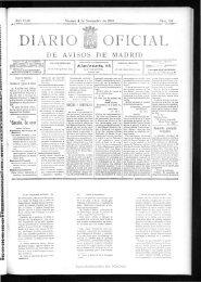 Diario oficial de avisos de Madrid - 100 años gran vía madrid