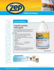 Liquid Laundry Detergent - Zep Professional