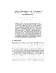 Collective Specification and Verification of Behavioral Models and ...