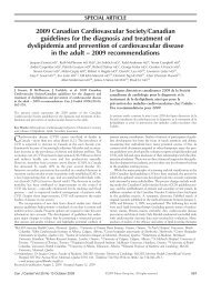 2009 Canadian Cardiovascular Society/Canadian guidelines for the ...