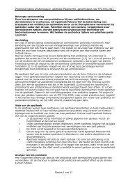 Projectbeschrijving probiotica tijdens antibiotica - KNMP