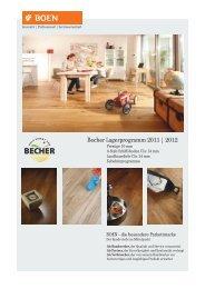 Becher Lagerprogramm 2011 | 2012