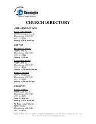 Bloomington Church Directory