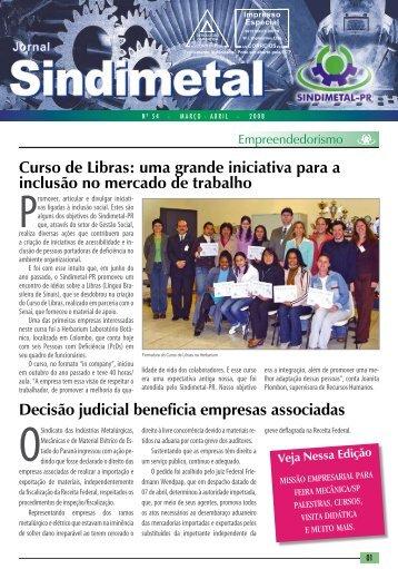 Edição nº 54 - Março / Abril - Sindimetal/PR
