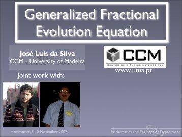 Generalized Fractional Evolution Equation