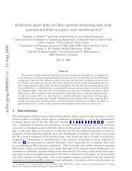 Relativistic phase shift for Dirac particles interacting with weak ...