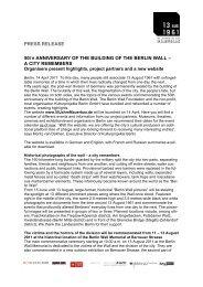 PR 04/14/2011 - 50 Jahre Mauerbau
