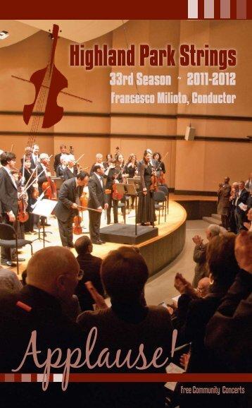 2011-2012 Francesco Milioto, Conductor - Highland Park Strings