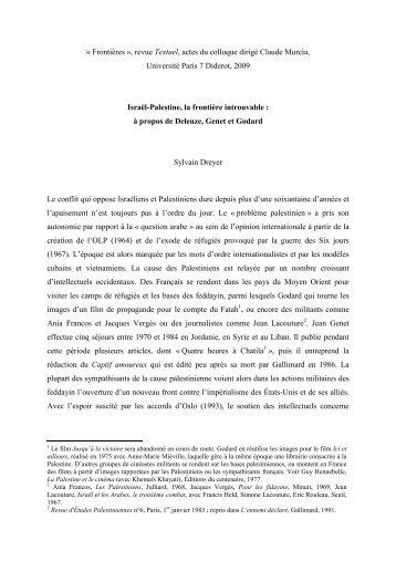 Frontières - Centre de recherche en poétique et histoire littéraire