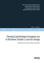Chemical and biological weapons use in the Rome Statute: a case ...