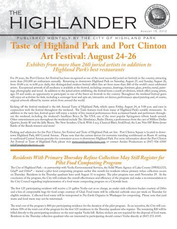 August 12 rev.pdf - Highland Park, IL