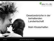 Folie 1 - Albert Schweitzer Stiftung für unsere Mitwelt