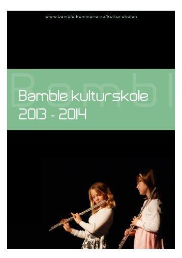 Informasjonsbrosjyre 2013 - 2014 - Bamble kommune