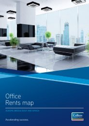 EMEA Offices Rents Map 2011 - Colliers