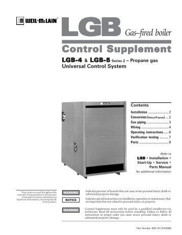 LGB 6-20 CSD-1 Control System Propane - Weil-McLain
